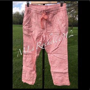 $88 HEI HEI Linen crop pants SZ: S